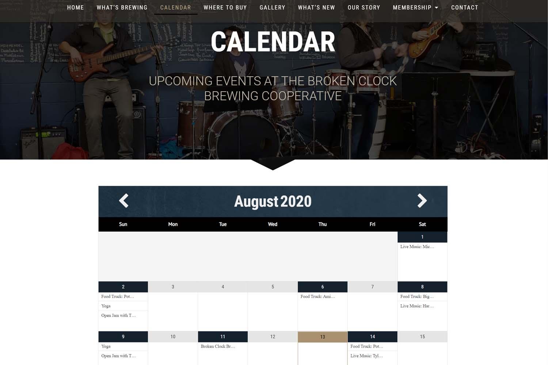 Brewery Event Calendar
